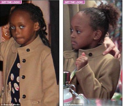 Angelina Jolie Put Synthetic Braids In Zahara's Hair. And We Care Because… Why?