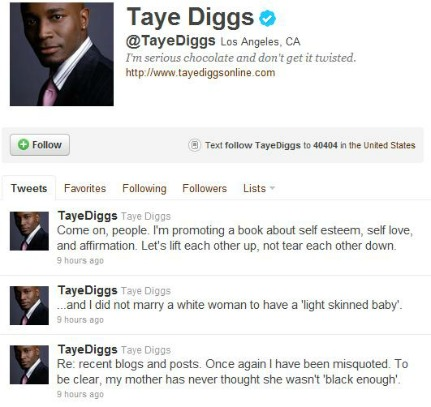 Post image for Dear Taye Diggs: You Were NOT Misquoted By MyBrownBaby