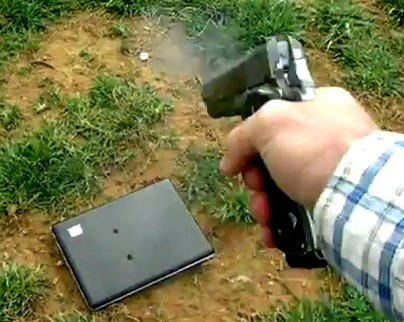 Dad Of the Year: Father Shoots Daughter's Laptop After She Disses Parents On FaceBook