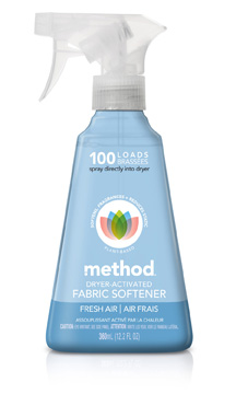 Post image for Method Spray-On Fabric Softener: Pumped It, Smelled It, Touched It, Love It.