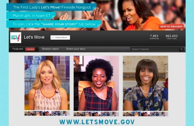 "Michelle Obama Hits Her Dougie With MyBrownBaby In Her ""Let's Move"" Google+ Hangout (Video)"