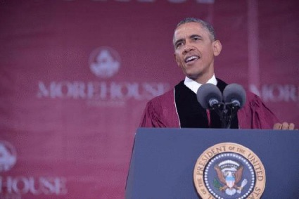 President Obama's Morehouse Speech: Encouraging Class Of 2013 To Be Great Black Men, Fathers