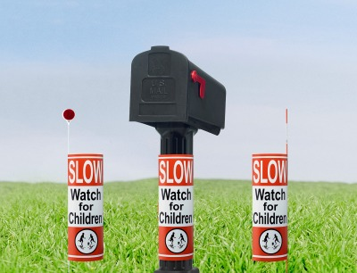 Child Safety Sign 360 Degrees: A Great Way To Slow Down Your Neighborhood Speed Demon