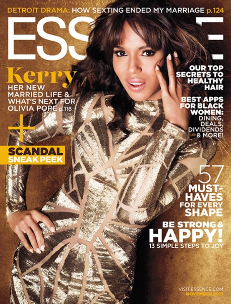 'Scandal' Gladiators! Kerry Washington Graces November 2013 ESSENCE Cover, Penned By Moi